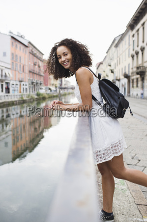 italy milan portrait of smiling young