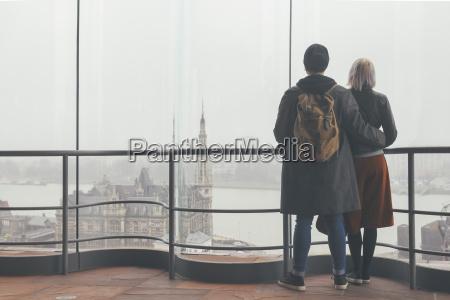 belgium antwerp back view of couple