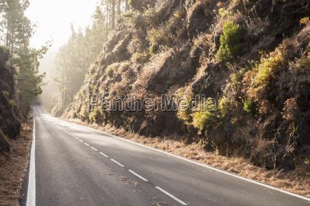 spain tenerifa empty road