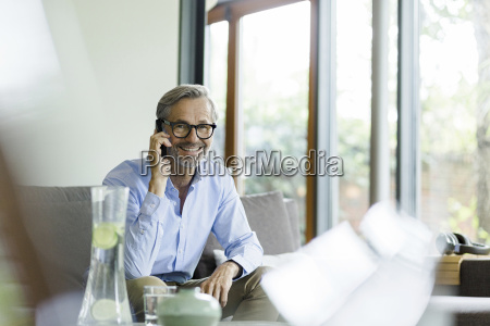 portrait of smiling man on the