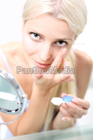 insertion of contact lenses