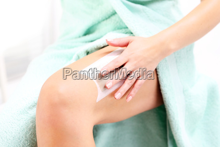 waxing patch with wax to depilate