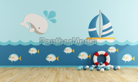 playroom in marine style