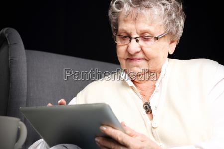 grandma and the computer mature woman