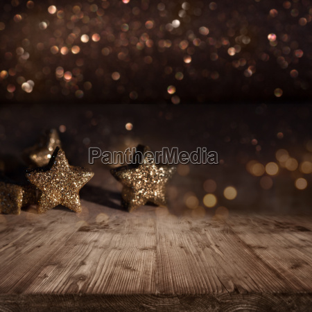 christmas background with glittering stars