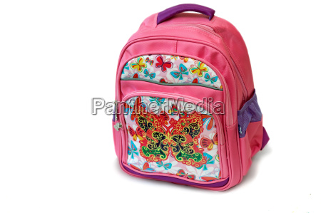 school backpack for girl on a