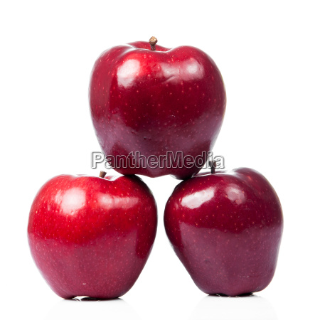 fresh red apples isolated on