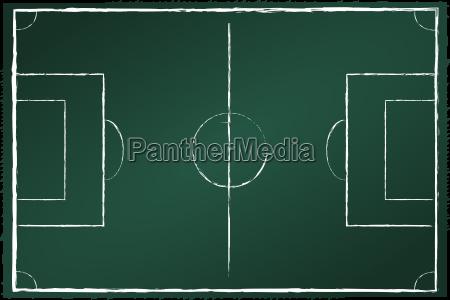 football field on blackboard green