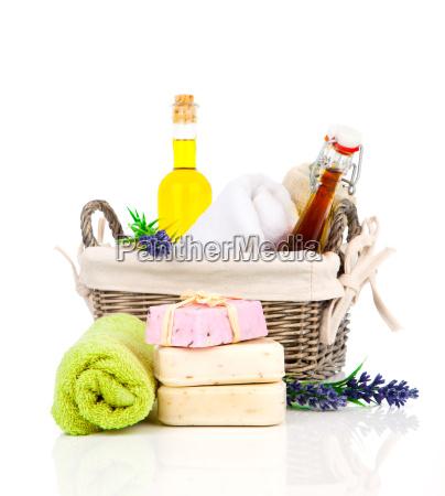 handmade lavender soap oil and fresh