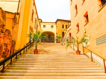 the padua stairs with flowers