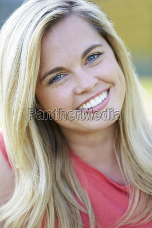 outdoor portrait of woman in countryside