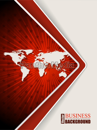 abstract red brochure with stars and