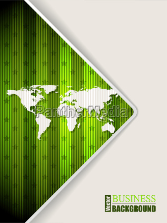 abstract green brochure with world map