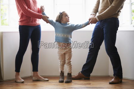 two parents fighting over child in
