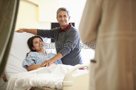 husband, visiting, wife, in, hospital, and - 19370154