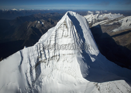 aerial view of mount robson british
