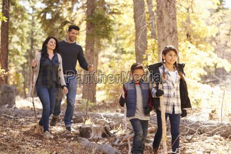 close up of happy hispanic family