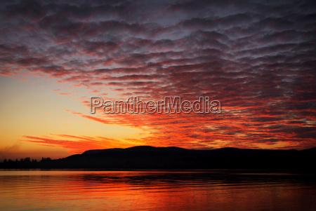 sunset at lake balaton hungary