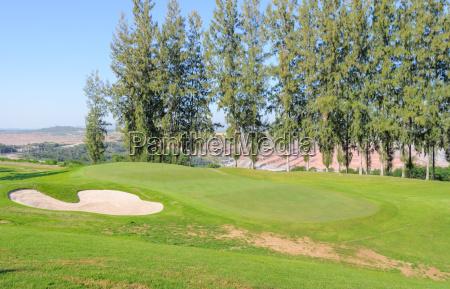 beautiful landscape of a golf court