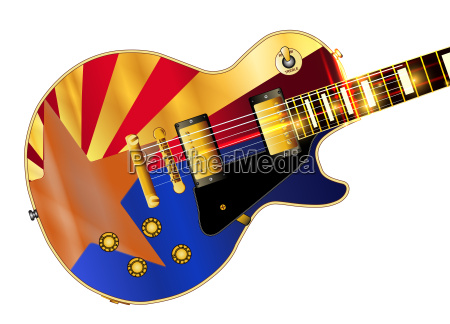 arizona flag guitar guitar