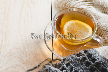 cozy and soft winter background cup