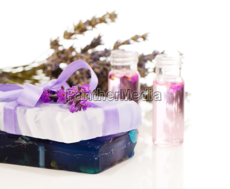 lavender soap and oil handmade with
