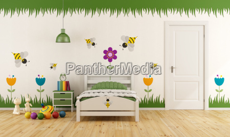 white child bedroom with decoration