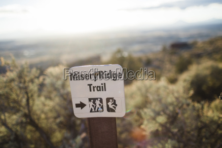 misery ridge trail sign at smith
