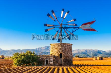 traditional windmill on mallorca