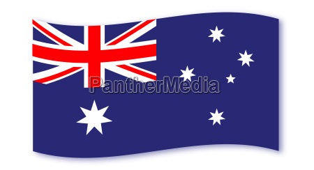 flag of australia wave