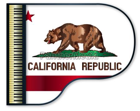 grand piano california flag