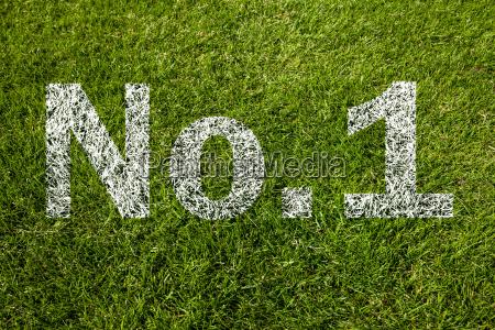 no1 written on grass