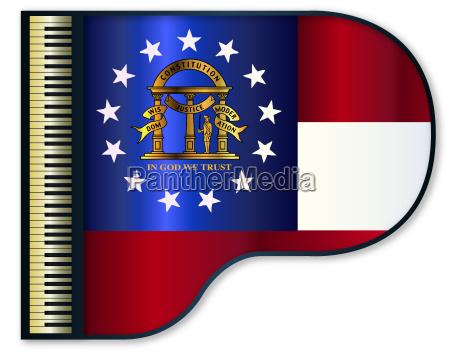 grand piano georgia flag