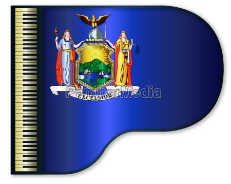 grand piano new york flag