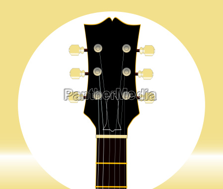 guitar headstock and tuners