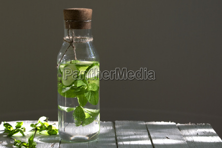 detox water with cucumber and mint