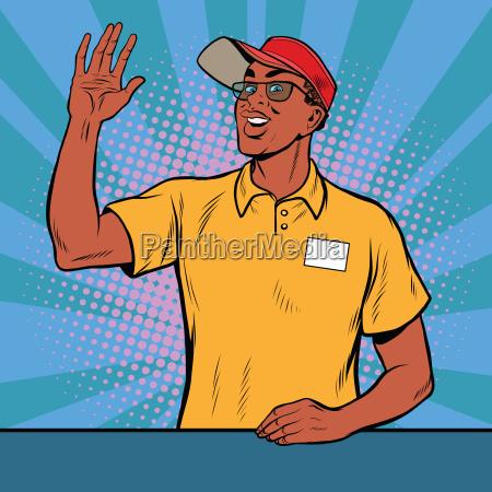 african american worker fast food welcomed