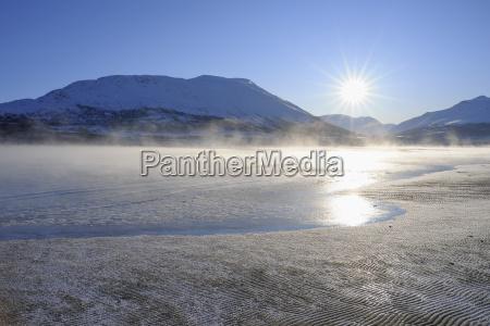 winter scene breivikeidet troms norway