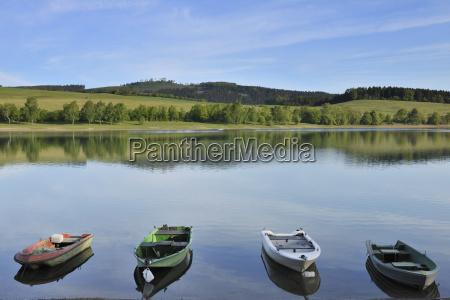 boats on lake diemelsee heringhausen waldeck