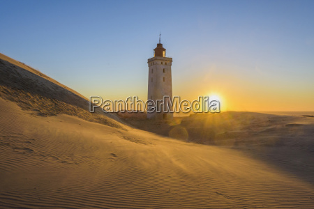 lighthouse and dunes rubjerg knude at
