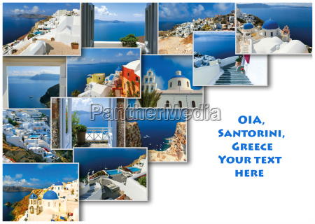 traditional architecture of oia village on