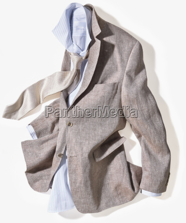 sports jacket with shirt and tie