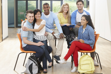 multi-ethnic, group, of, students, in, classroom - 19407646