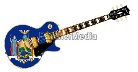 new york state flag guitar