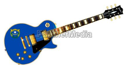 nevada state flag guitar