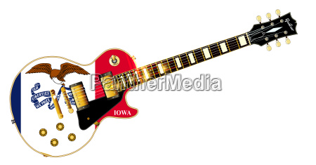 iowa state flag guitar