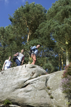 group, of, young, men, hiking, in - 19408674