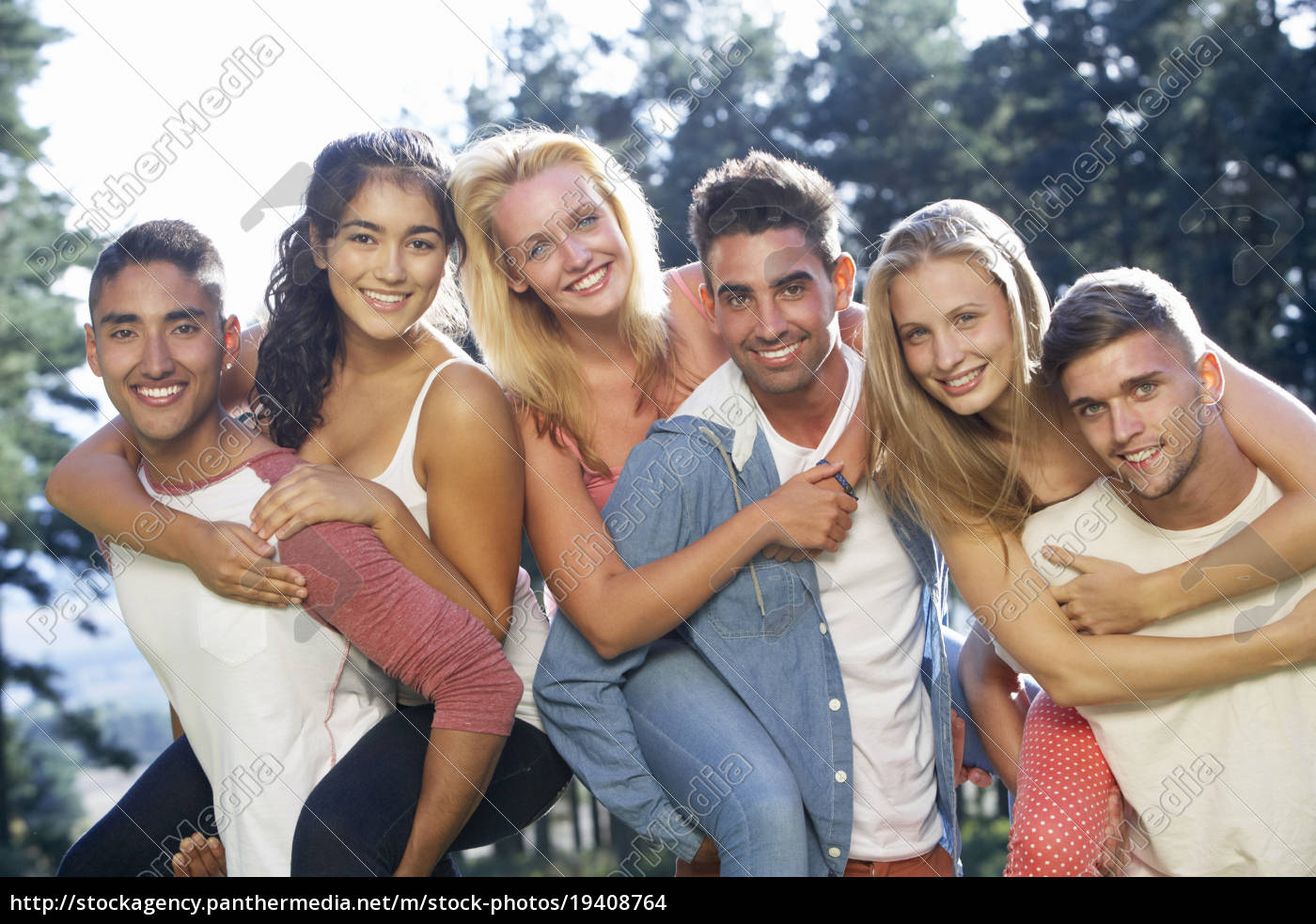 group, of, young, people, relaxing, in - 19408764