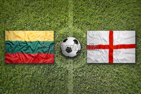 lithuania vs england flags on soccer