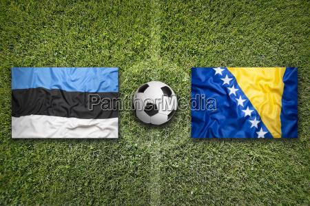 estonia vs bosnia and herzegovina flags
